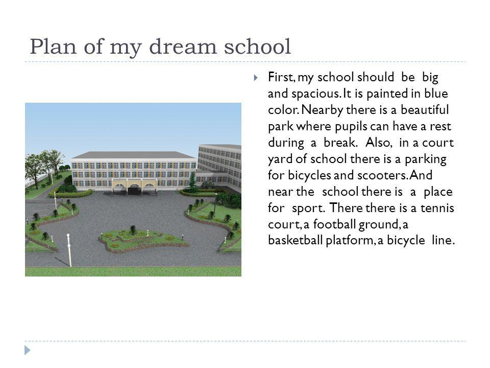 Plan of my dream school