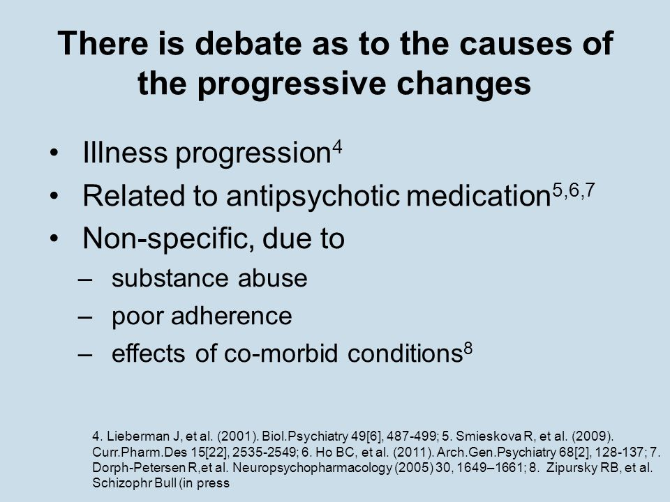 There is debate as to the causes of the progressive changes