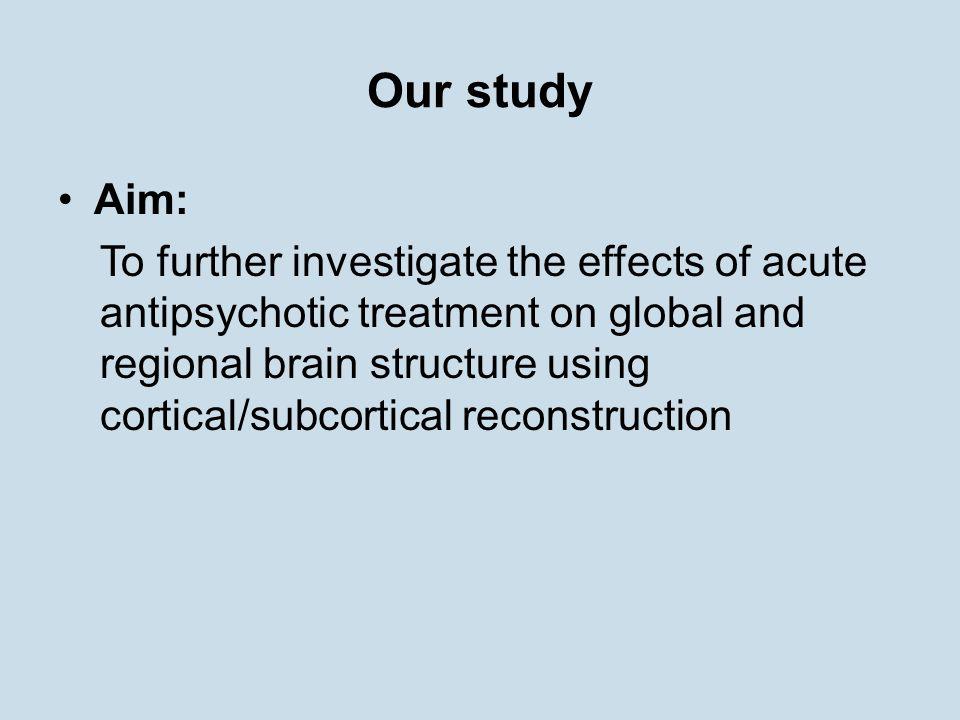 Our study Aim: