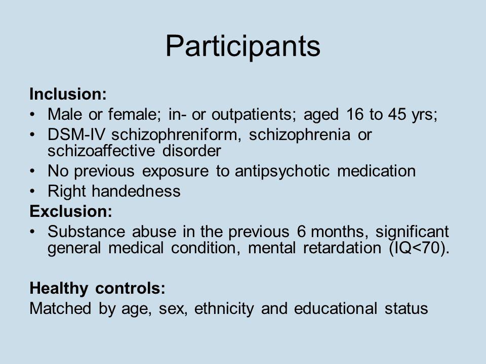 Participants Inclusion: