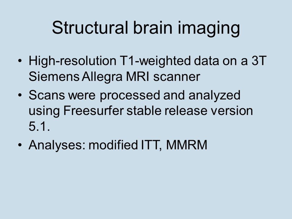 Structural brain imaging