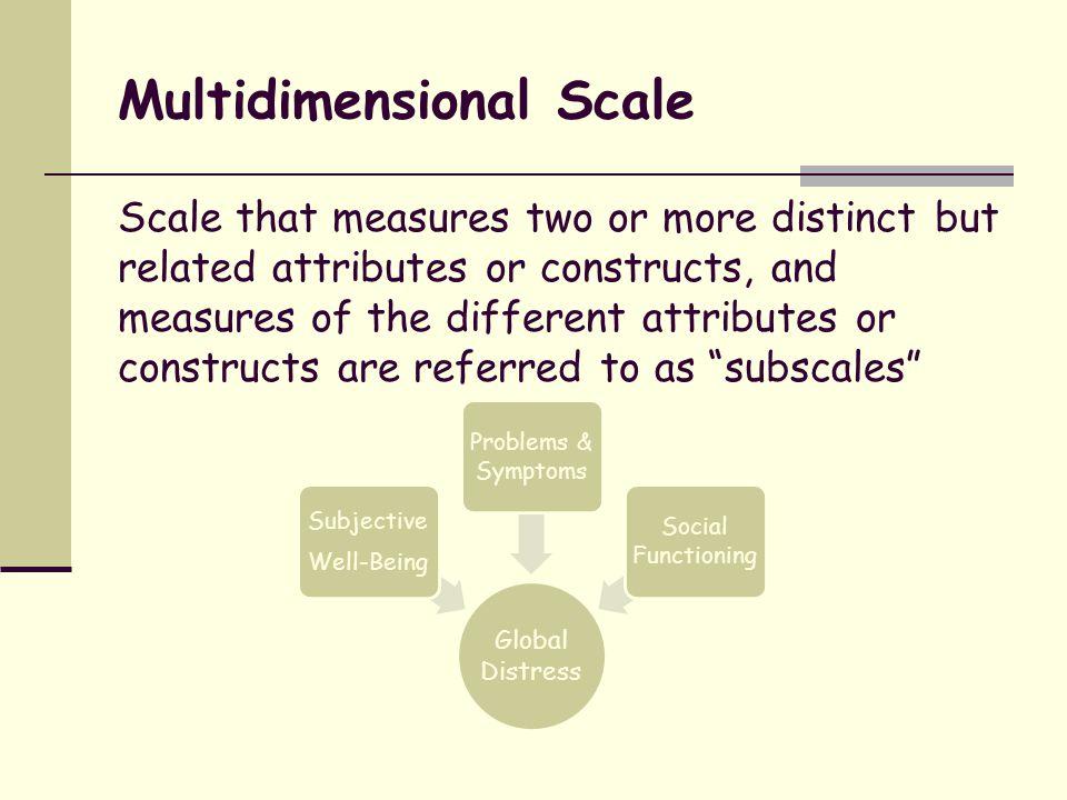 Multidimensional Scale