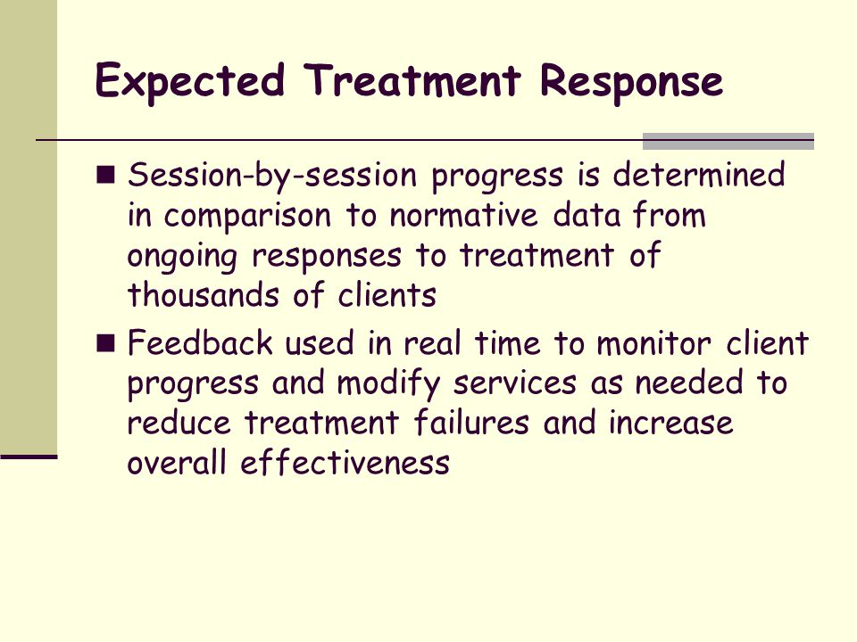 Expected Treatment Response