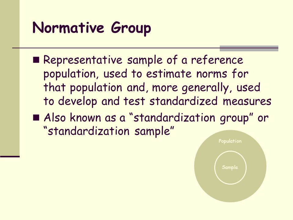 Normative Group