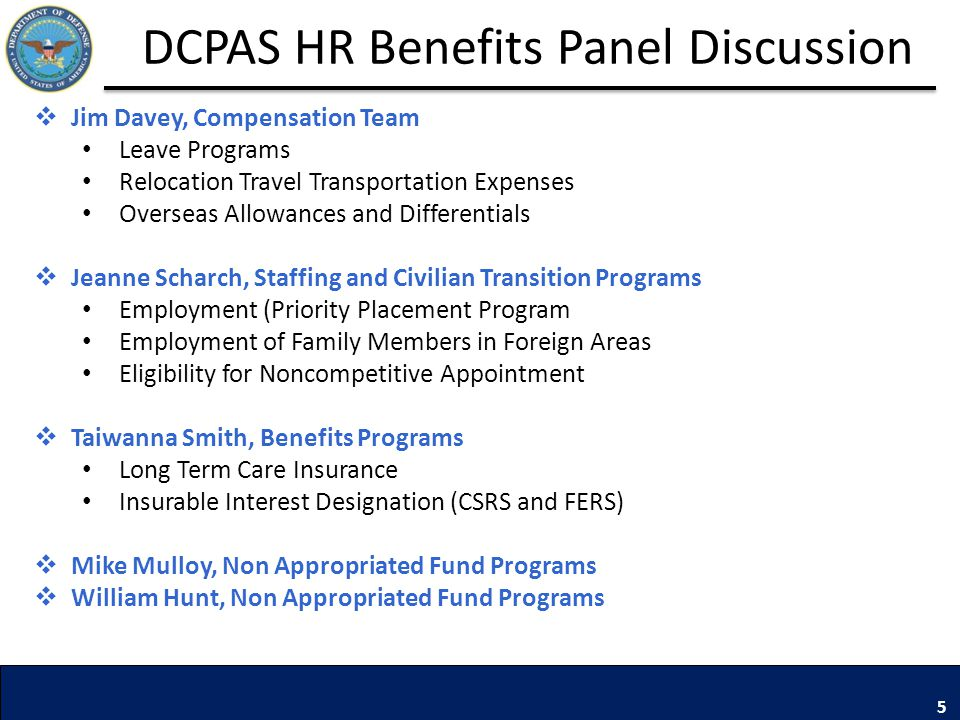 DCPAS HR Benefits Panel Discussion