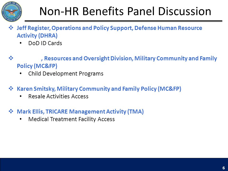 Non-HR Benefits Panel Discussion