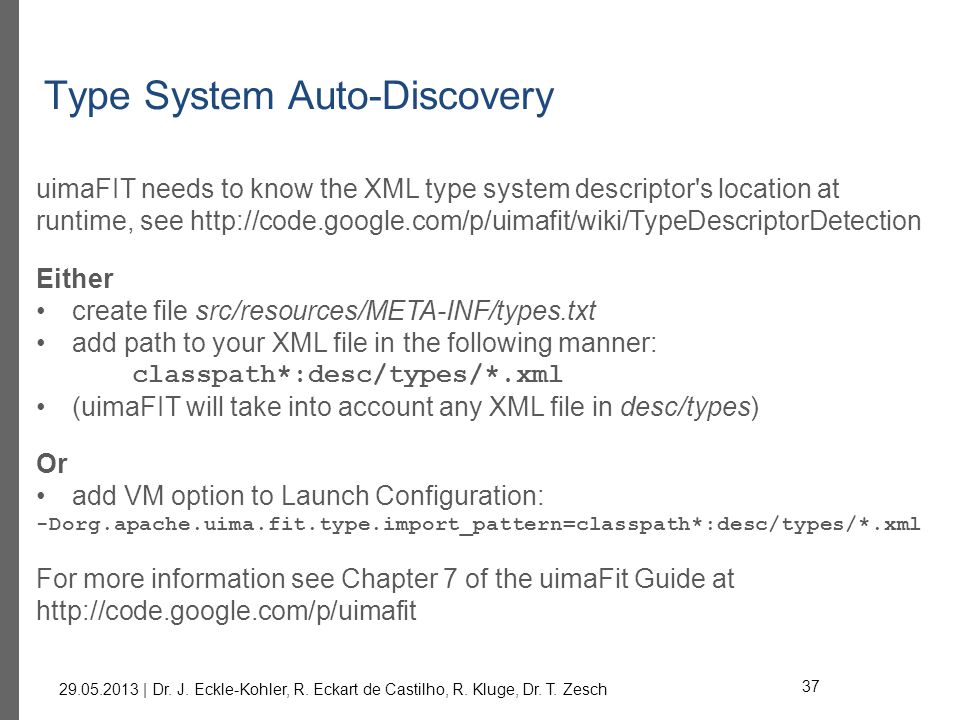 Type System Auto-Discovery