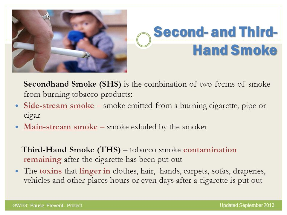 Second- and Third- Hand Smoke