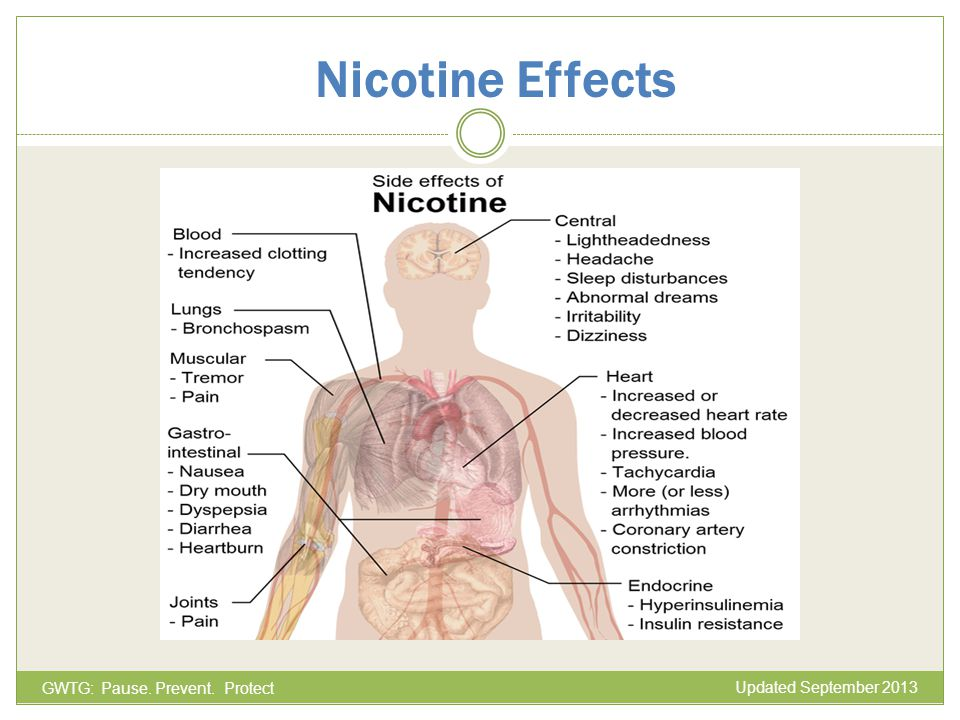 Nicotine Effects GWTG: Pause. Prevent. Protect Updated September 2013