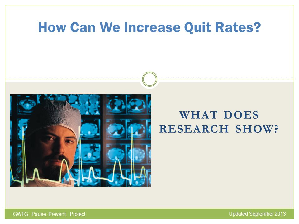 How Can We Increase Quit Rates