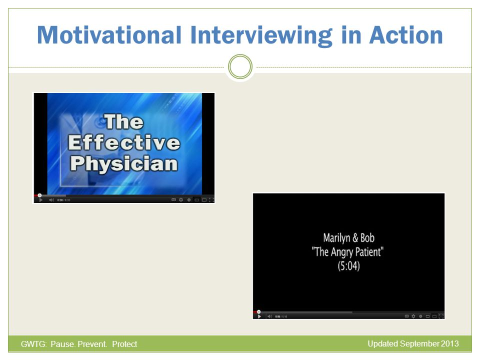 Motivational Interviewing in Action