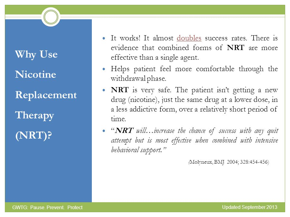 Why Use Nicotine Replacement Therapy (NRT)