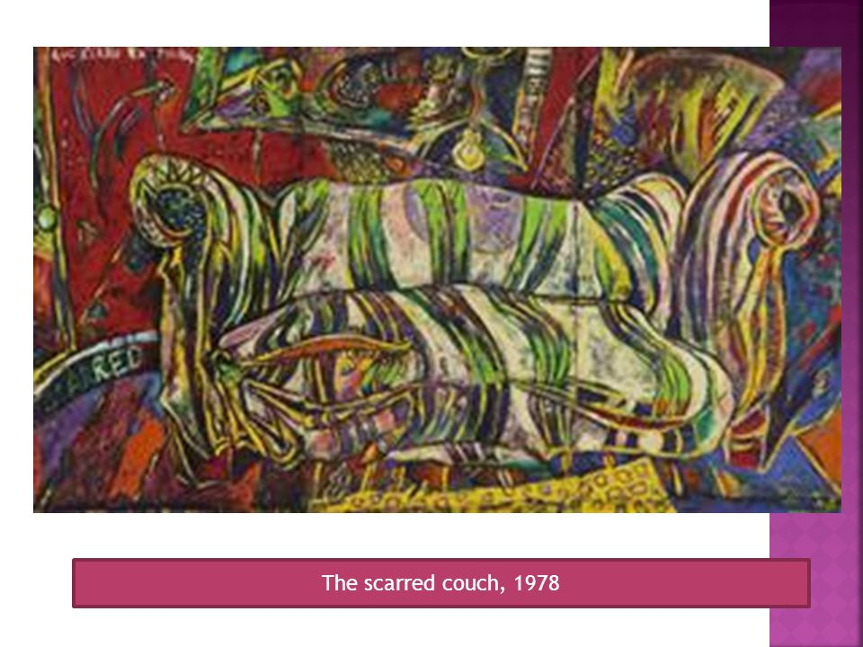 The scarred couch, 1978