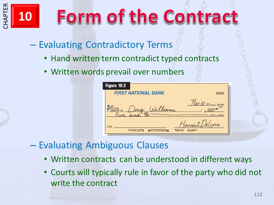 Evaluating Contradictory Terms