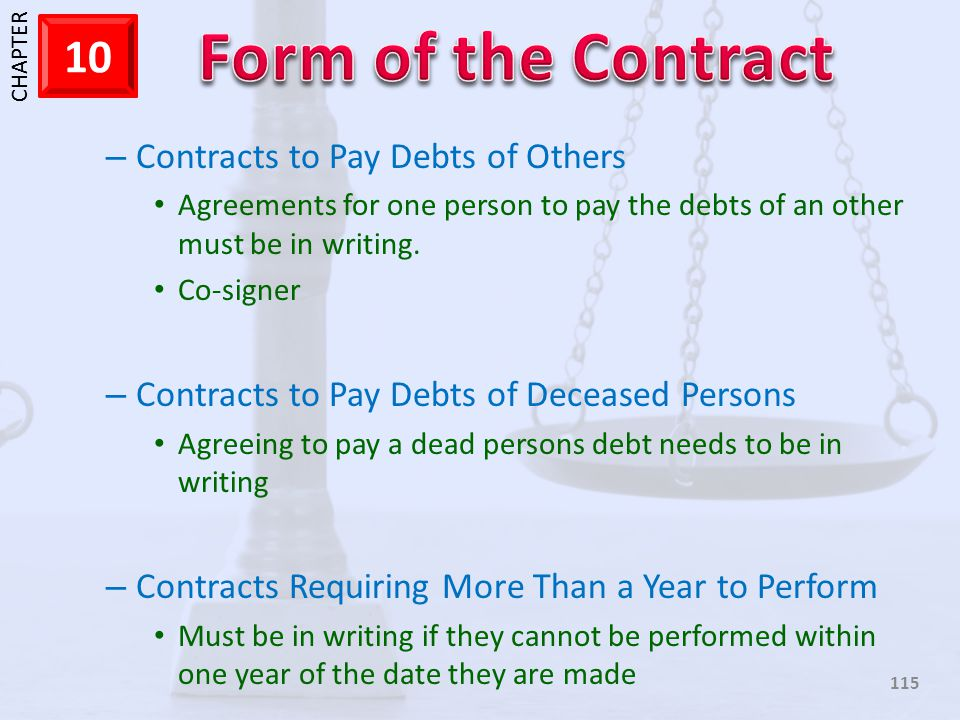 Contracts to Pay Debts of Others