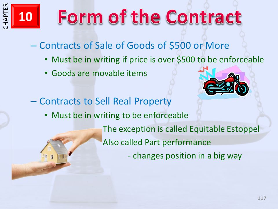 Contracts of Sale of Goods of $500 or More