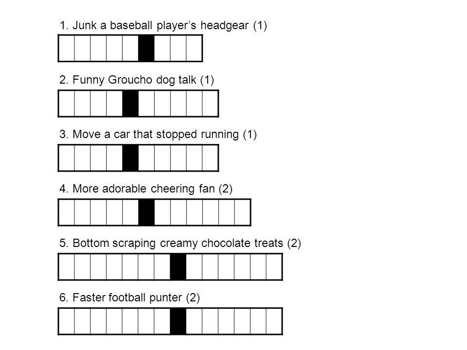 1. Junk a baseball player's headgear (1)