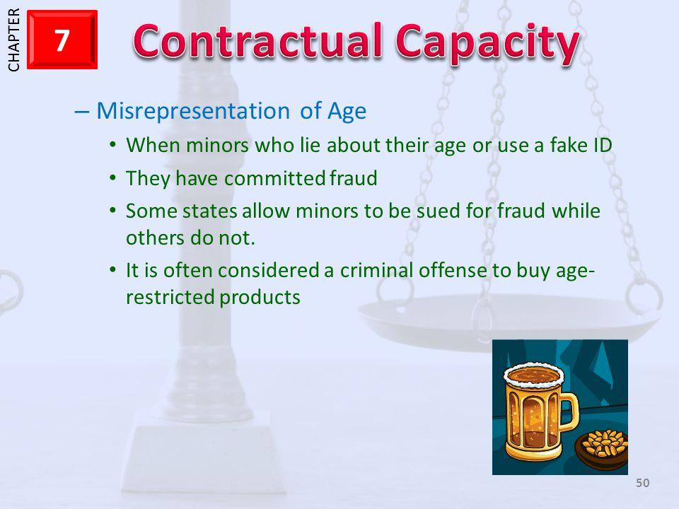 Misrepresentation of Age