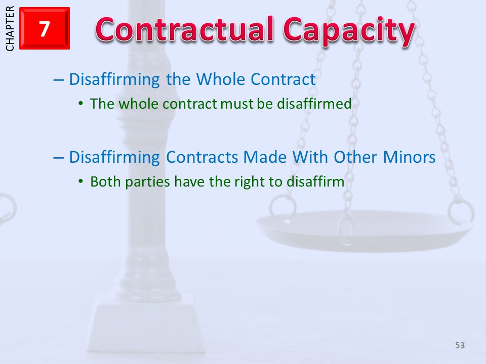 Disaffirming the Whole Contract