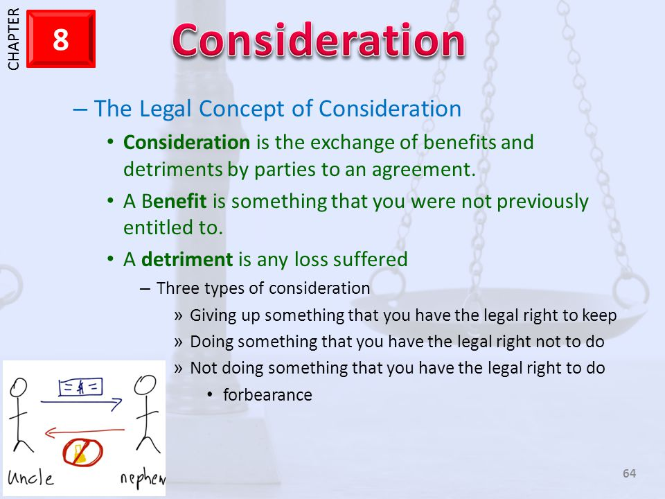 The Legal Concept of Consideration