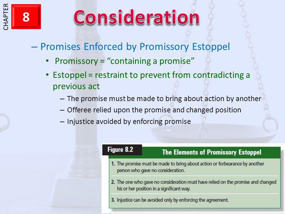 Promises Enforced by Promissory Estoppel