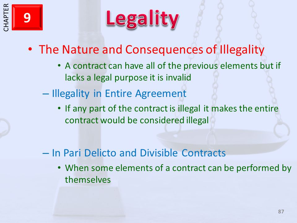 The Nature and Consequences of Illegality