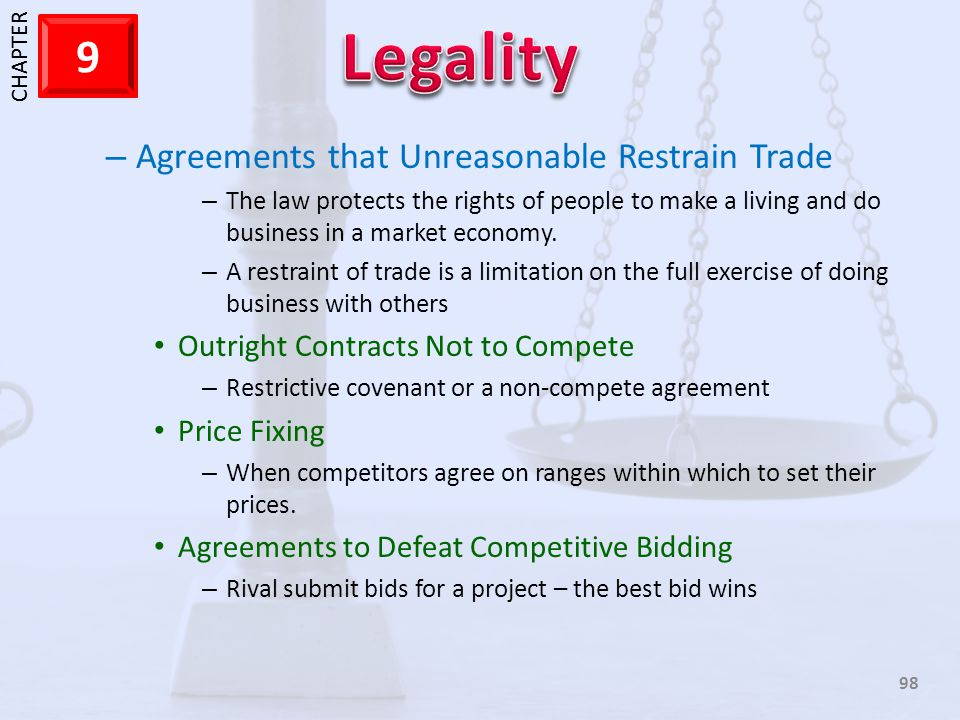 Agreements that Unreasonable Restrain Trade
