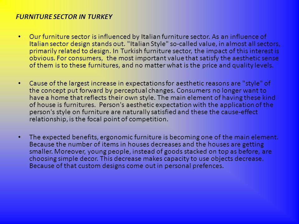 FURNITURE SECTOR IN TURKEY