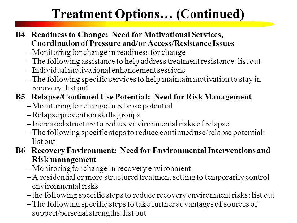 Treatment Options… (Continued)