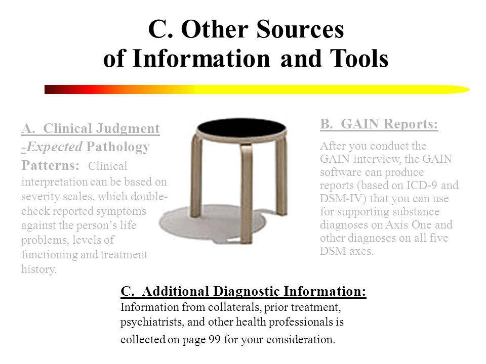 C. Other Sources of Information and Tools