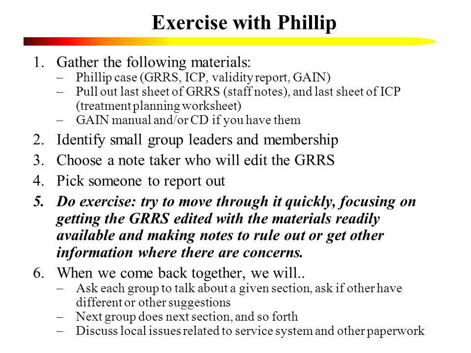 Exercise with Phillip Gather the following materials: