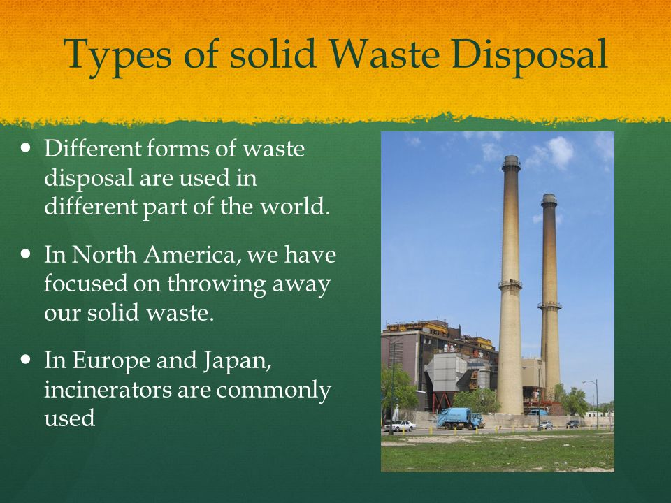 Types of solid Waste Disposal