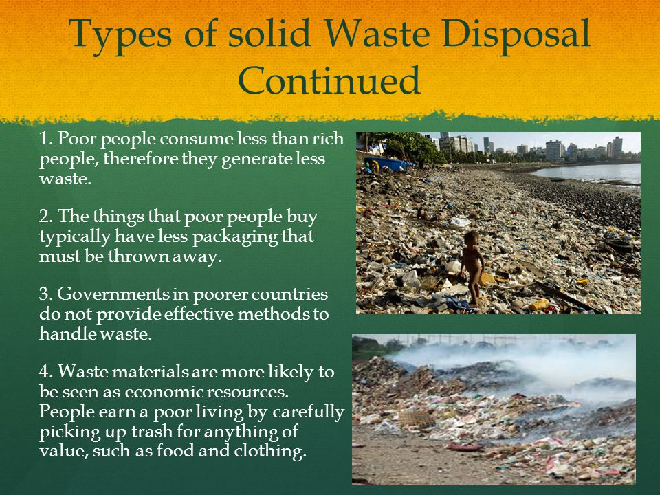 Types of solid Waste Disposal Continued