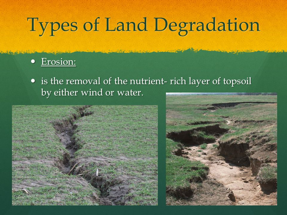 Types of Land Degradation