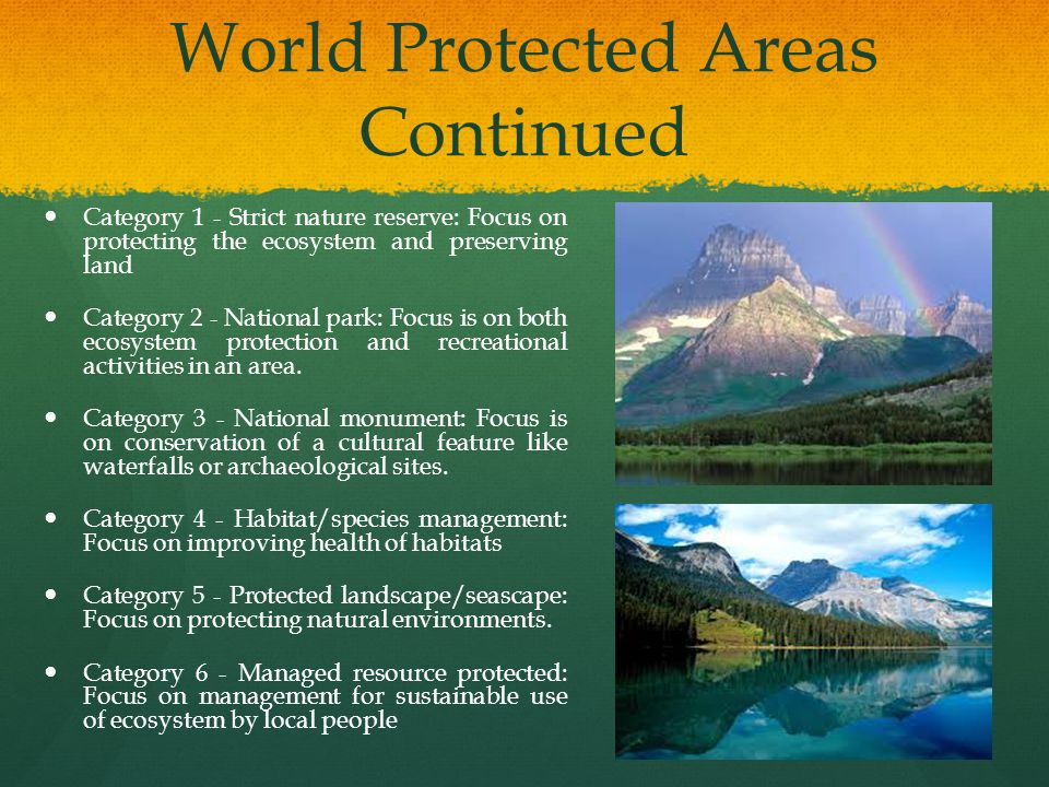 World Protected Areas Continued