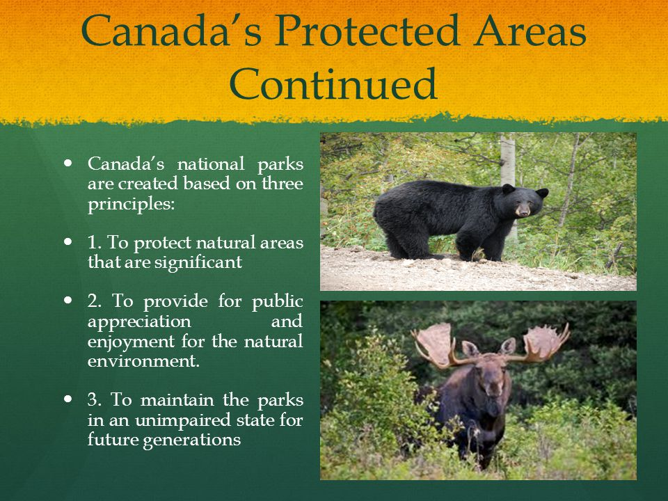 Canada's Protected Areas Continued
