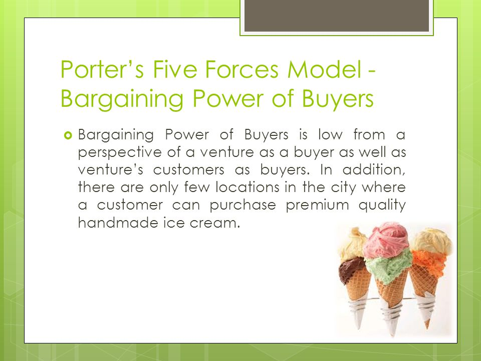 Porter's Five Forces Model - Bargaining Power of Buyers