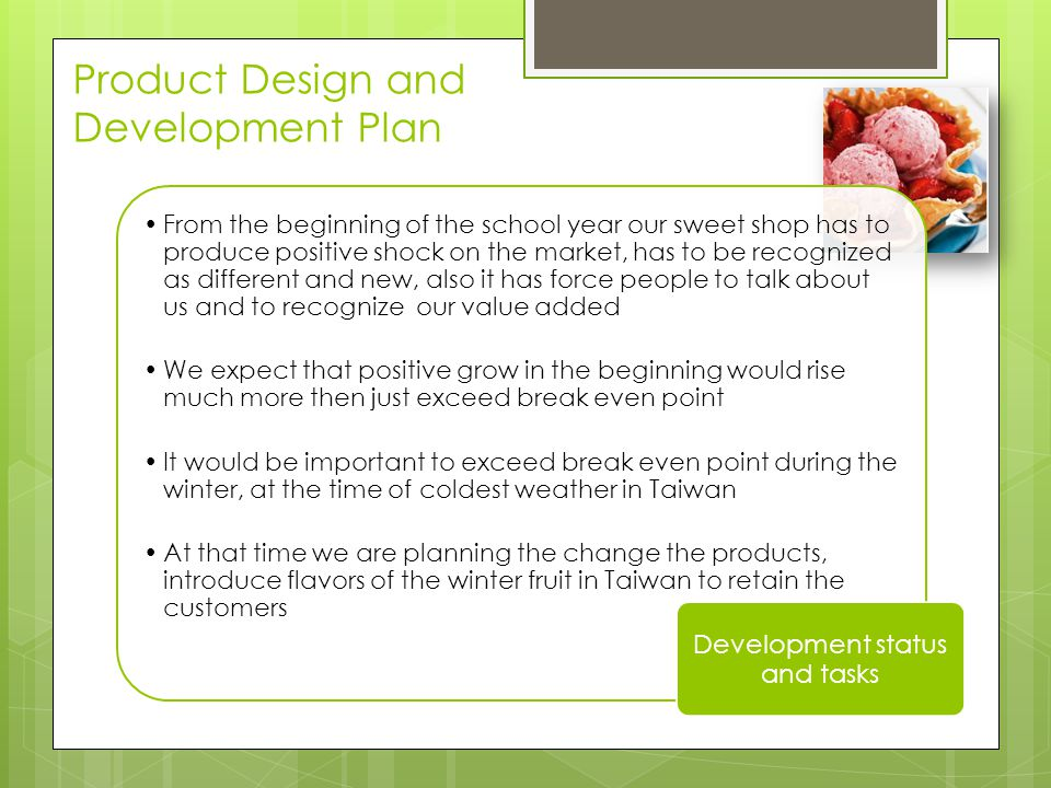Product Design and Development Plan