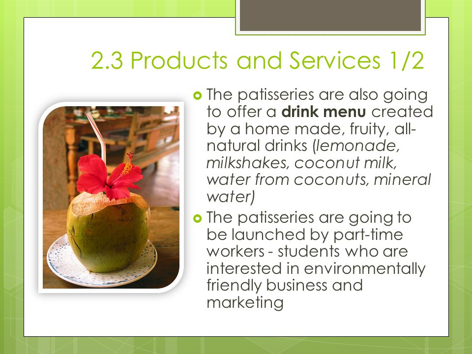 2.3 Products and Services 1/2