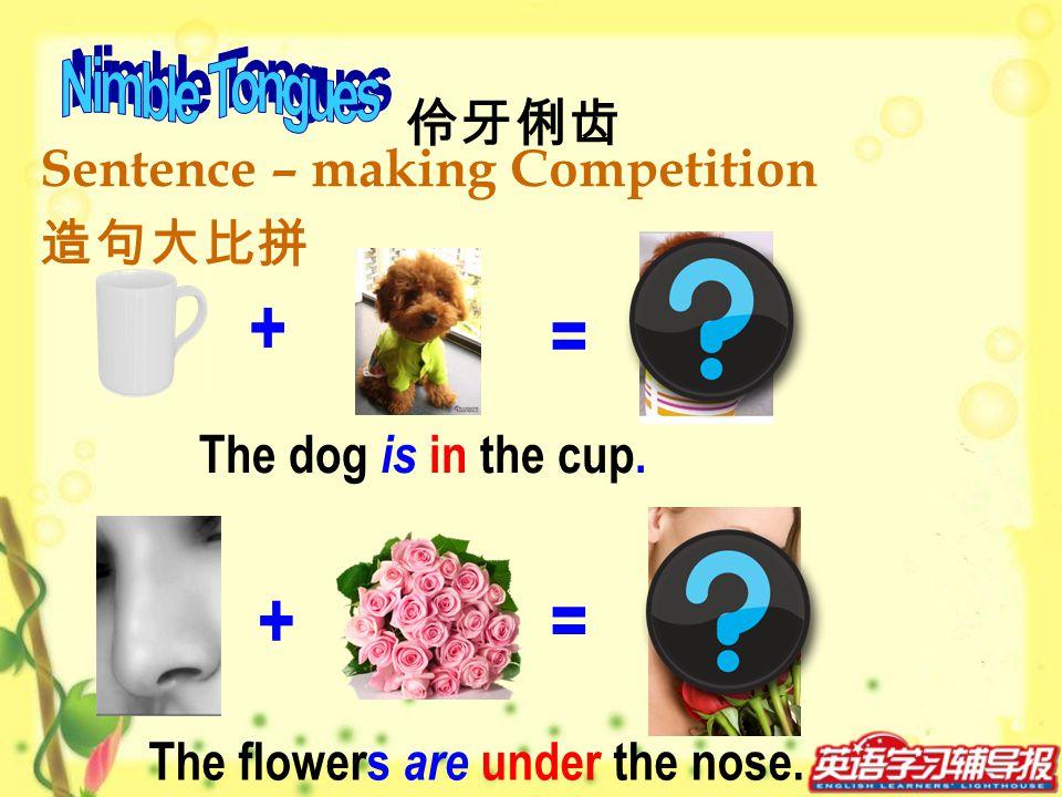 + = + = Nimble Tongues 伶牙俐齿 Sentence – making Competition 造句大比拼