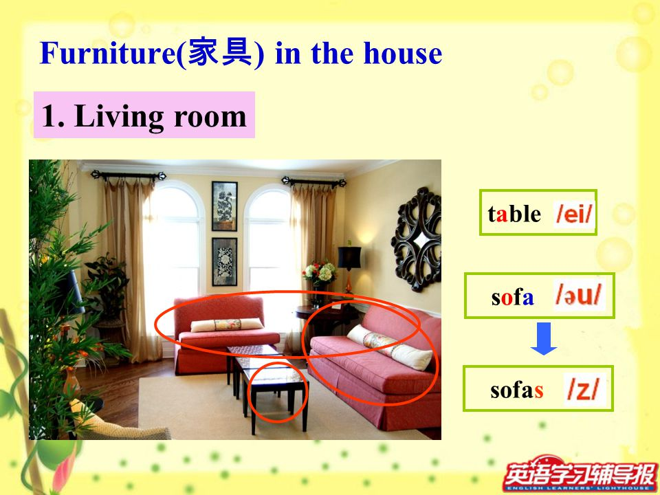 Furniture(家具) in the house