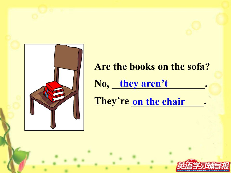 Are the books on the sofa