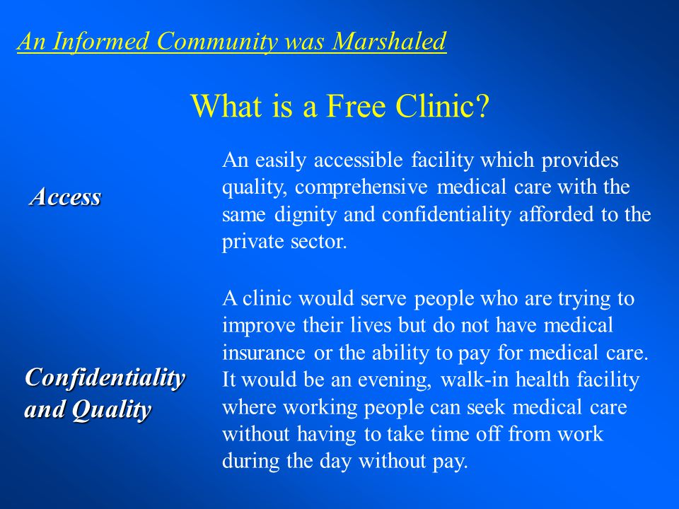 An Informed Community was Marshaled