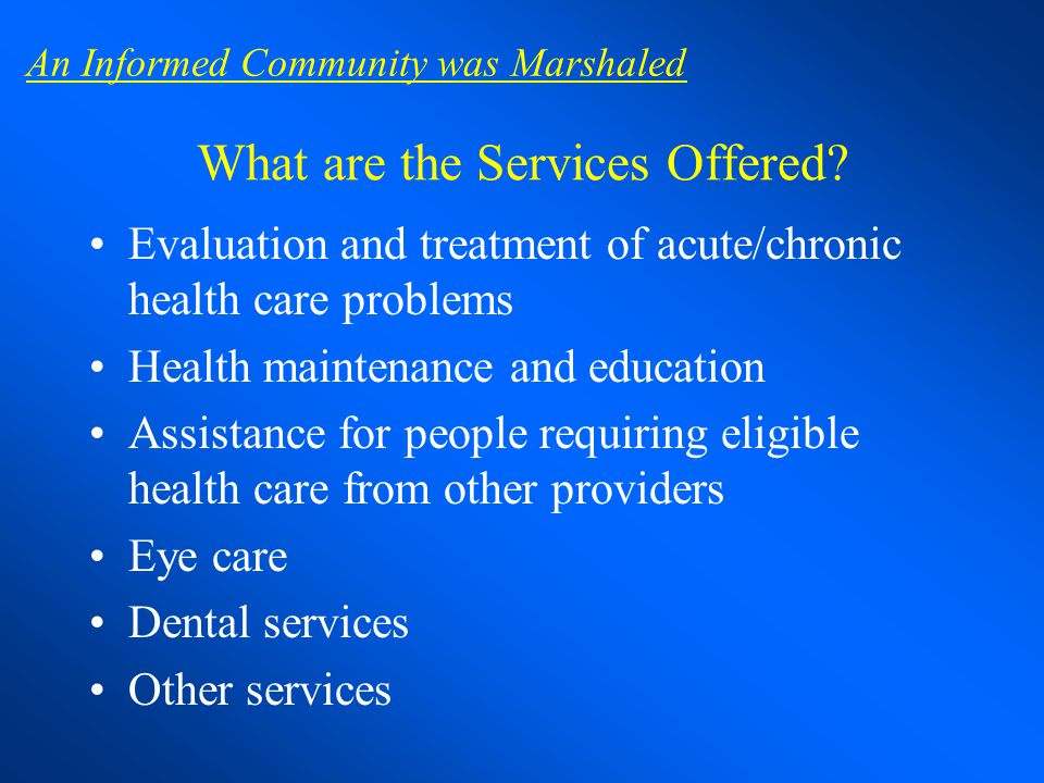 What are the Services Offered