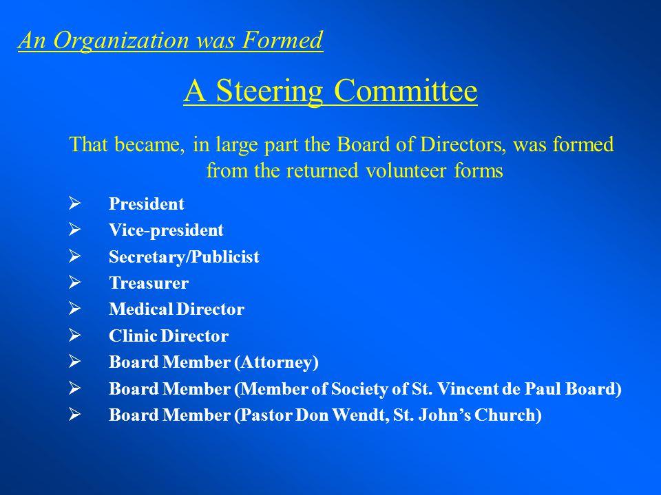 An Organization was Formed