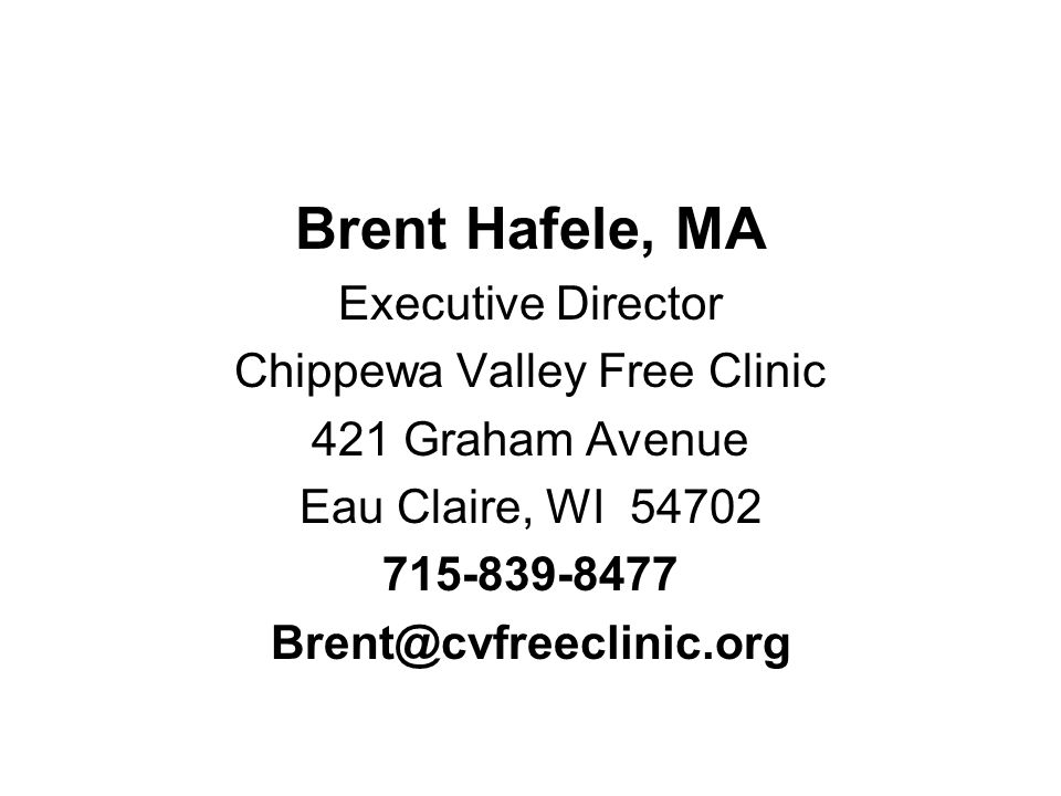 Chippewa Valley Free Clinic