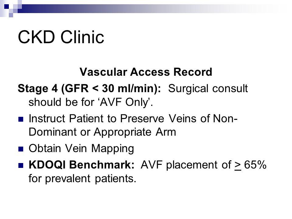 Vascular Access Record