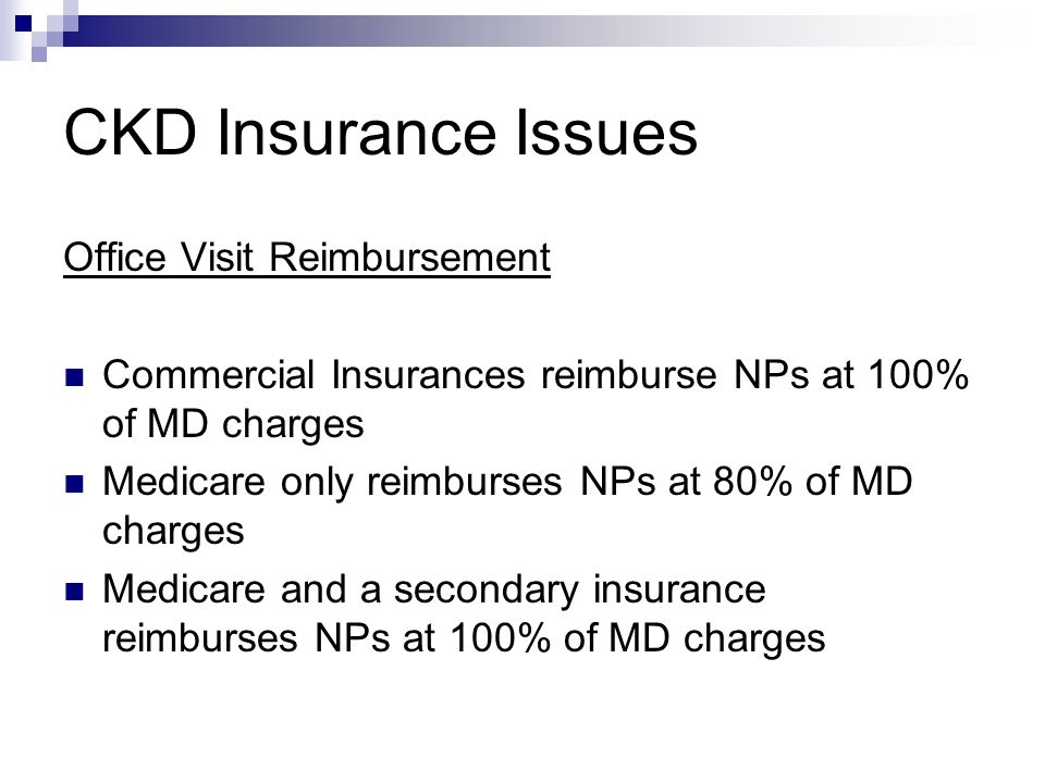CKD Insurance Issues Office Visit Reimbursement