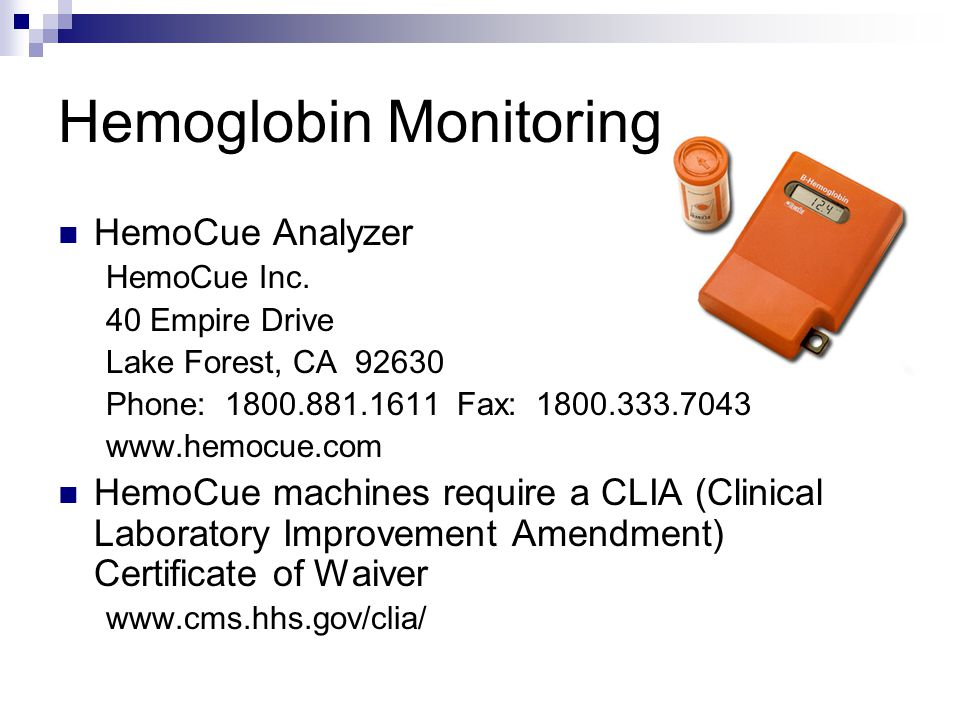 Hemoglobin Monitoring
