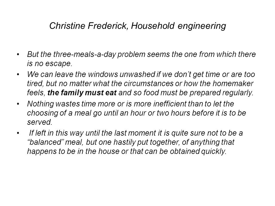 Christine Frederick, Household engineering